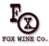 Fox Wine Co logo , labels, and website